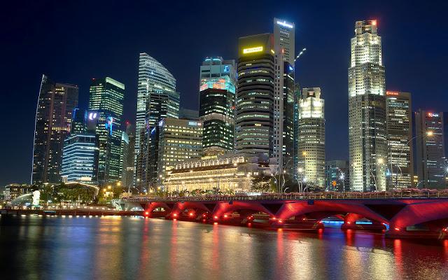 Ciudad-de-Singapur-en-la-Noche_Paisajes-de-Ciudades